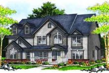 European Exterior - Front Elevation Plan #70-638