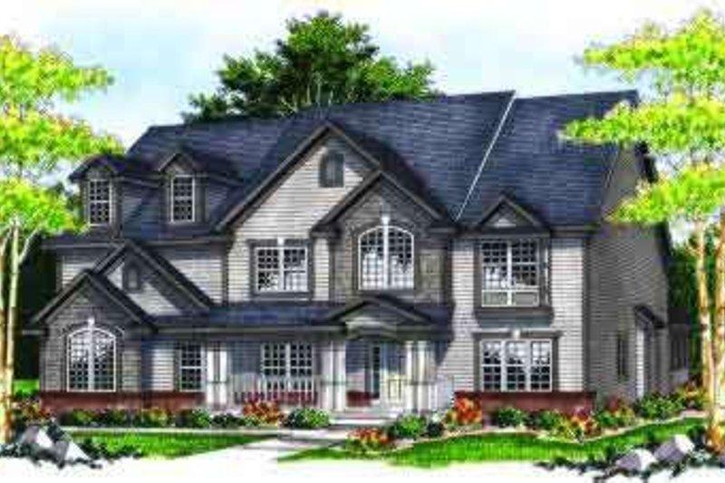 Dream House Plan - European Exterior - Front Elevation Plan #70-638
