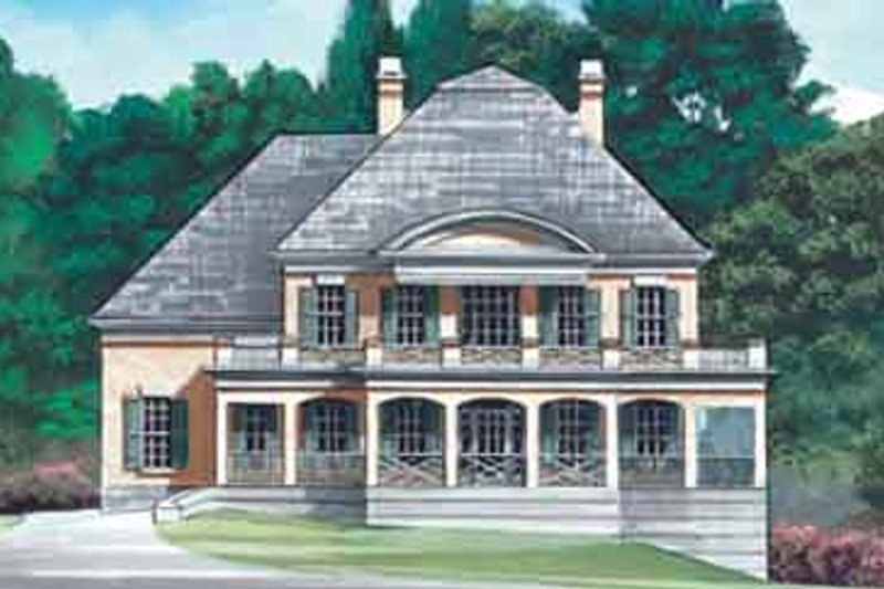 Colonial Style House Plan - 5 Beds 4 Baths 3688 Sq/Ft Plan #119-148 Exterior - Front Elevation
