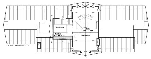 Contemporary Floor Plan - Upper Floor Plan #928-326