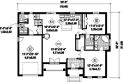 Traditional Style House Plan - 2 Beds 2 Baths 1490 Sq/Ft Plan #25-4441 Floor Plan - Main Floor Plan