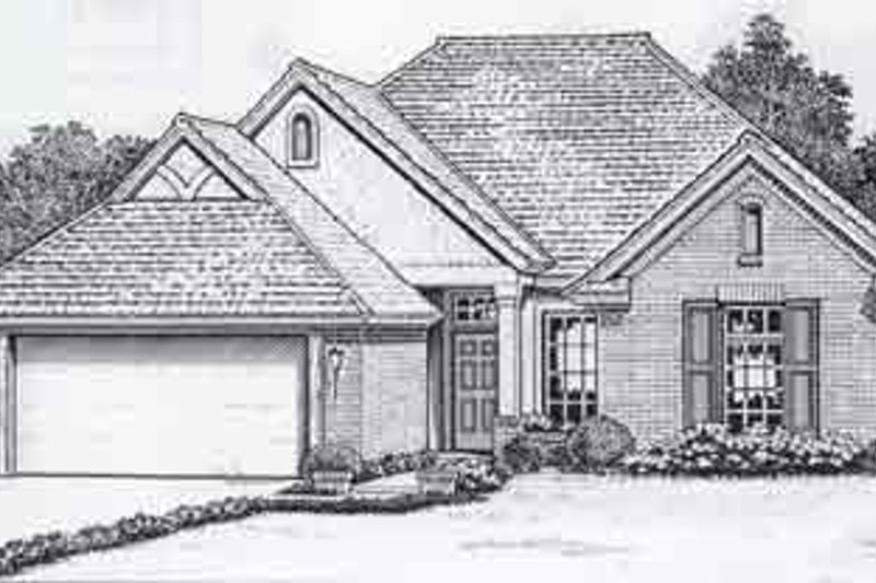 Colonial Style House Plan - 3 Beds 2 Baths 1802 Sq/Ft Plan #310-763 Exterior - Front Elevation