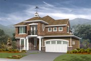 Traditional Style House Plan - 3 Beds 2.5 Baths 2673 Sq/Ft Plan #132-117 Exterior - Front Elevation