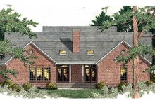Southern Exterior - Rear Elevation Plan #406-291