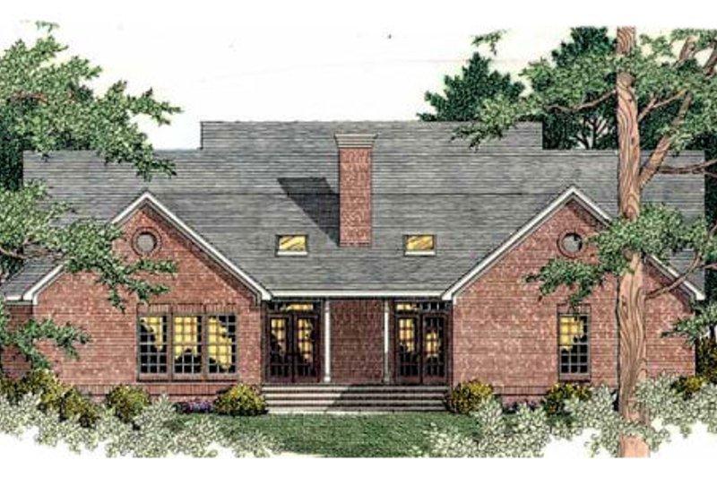 Southern Exterior - Rear Elevation Plan #406-291 - Houseplans.com