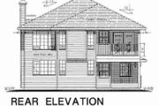 Traditional Style House Plan - 3 Beds 2 Baths 1434 Sq/Ft Plan #18-9307 Exterior - Rear Elevation