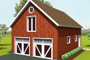 Country Style House Plan - 0 Beds 0 Baths 1320 Sq/Ft Plan #75-207 Exterior - Front Elevation