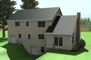 Traditional Style House Plan - 3 Beds 2.5 Baths 2296 Sq/Ft Plan #75-178 Exterior - Rear Elevation