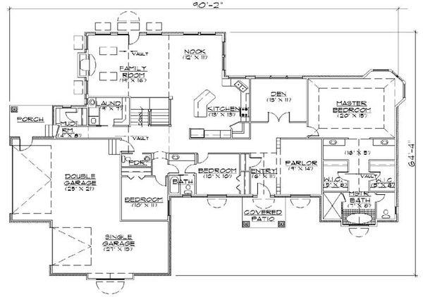 House Plan Design - European Floor Plan - Main Floor Plan #5-325