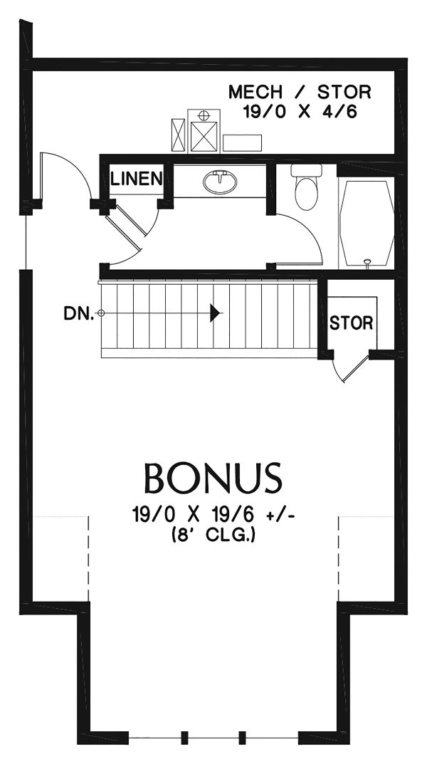 Ranch Floor Plan - Other Floor Plan Plan #48-948