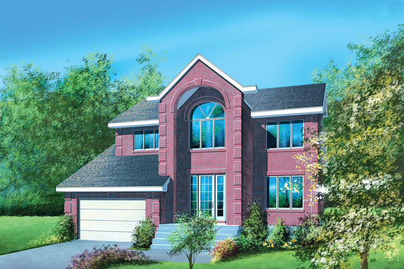 European Style House Plan - 4 Beds 2.5 Baths 2350 Sq/Ft Plan #25-2200 Exterior - Front Elevation
