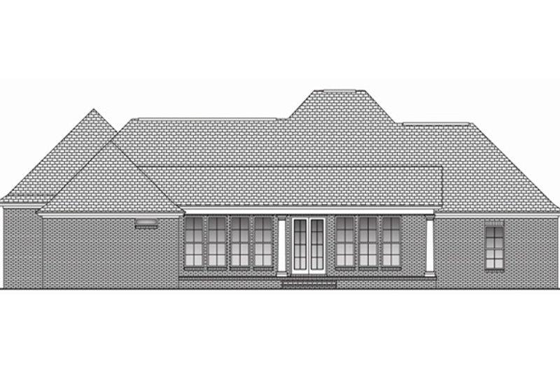 Southern Exterior - Rear Elevation Plan #430-49 - Houseplans.com