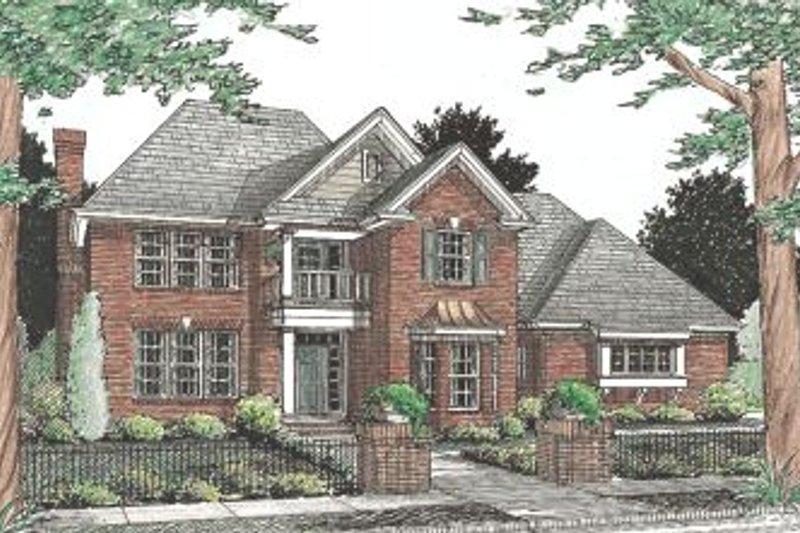 Colonial Exterior - Front Elevation Plan #20-339 - Houseplans.com