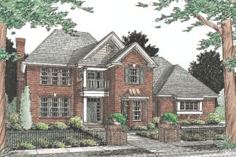 Colonial Exterior - Front Elevation Plan #20-339