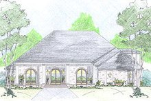 European Exterior - Front Elevation Plan #36-468