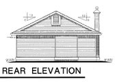 Bungalow Style House Plan - 3 Beds 1.5 Baths 1210 Sq/Ft Plan #18-157 Exterior - Rear Elevation