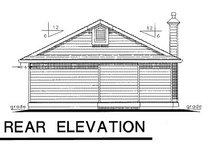 Bungalow Exterior - Rear Elevation Plan #18-157