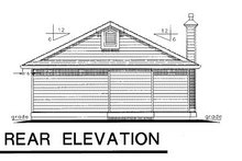 House Design - Bungalow Exterior - Rear Elevation Plan #18-157