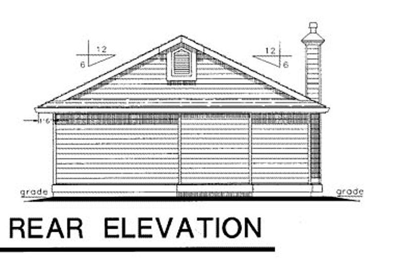 Bungalow Exterior - Rear Elevation Plan #18-157 - Houseplans.com