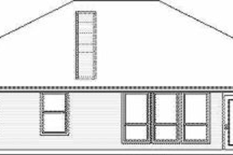 Traditional Exterior - Rear Elevation Plan #84-120 - Houseplans.com