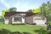 Colonial Style House Plan - 3 Beds 2 Baths 1641 Sq/Ft Plan #50-255 Exterior - Front Elevation
