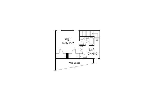 Craftsman Floor Plan - Upper Floor Plan #57-697