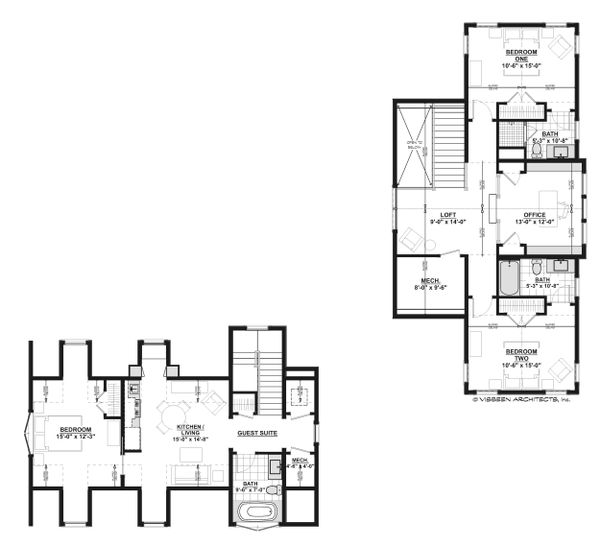 Architectural House Design - Country Floor Plan - Upper Floor Plan #928-13