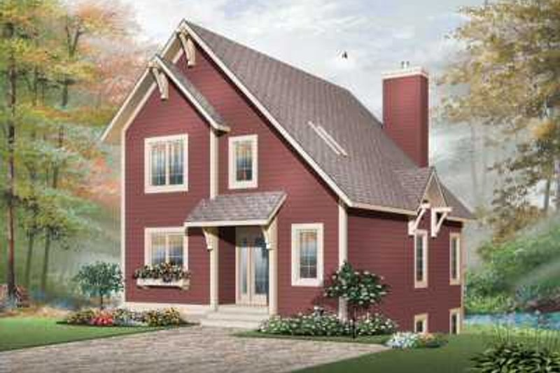 Colonial Exterior - Front Elevation Plan #23-662