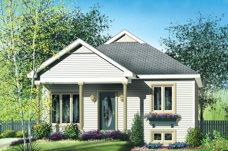 Cottage Style House Plan - 2 Beds 1 Baths 896 Sq/Ft Plan #25-152 Exterior - Front Elevation