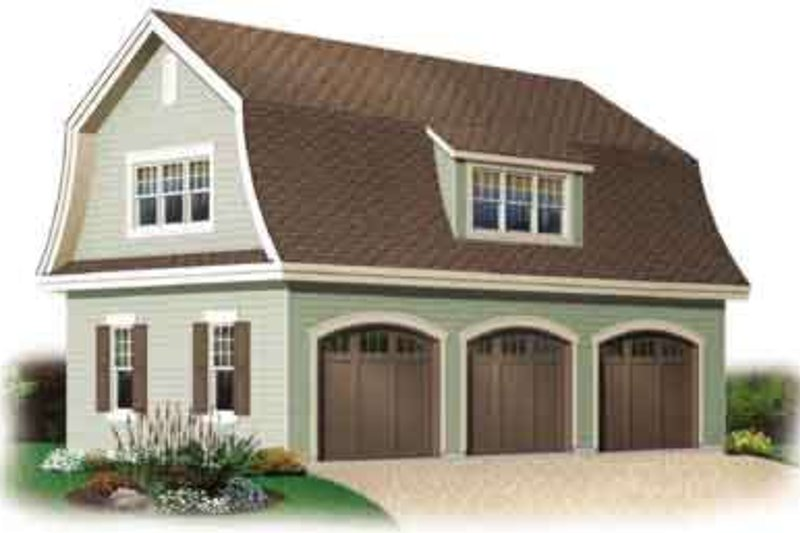 Home Plan - Traditional Exterior - Front Elevation Plan #23-440