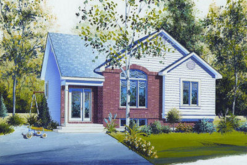 Cottage Exterior - Front Elevation Plan #23-707 - Houseplans.com