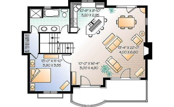Traditional Floor Plan - Main Floor Plan Plan #23-453