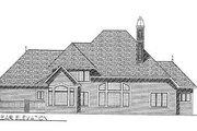 European Style House Plan - 4 Beds 3.5 Baths 3546 Sq/Ft Plan #70-528 Exterior - Rear Elevation