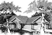 Traditional Style House Plan - 3 Beds 2 Baths 1199 Sq/Ft Plan #329-103