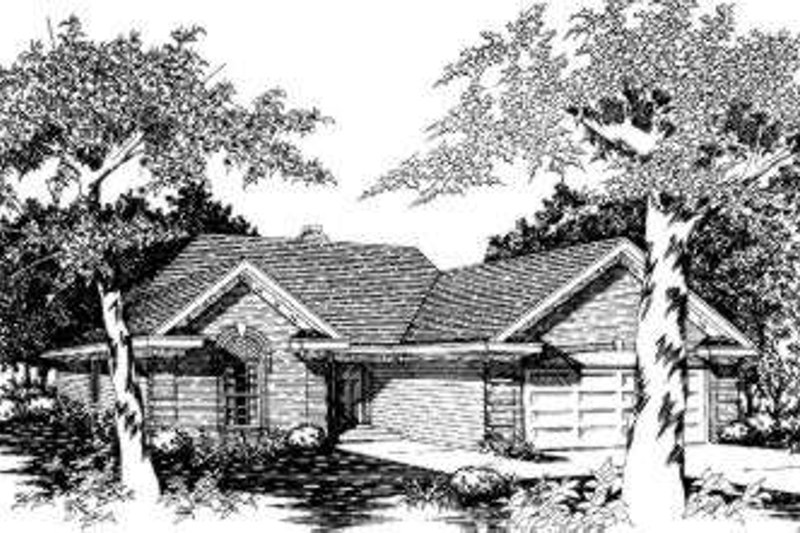 Traditional Style House Plan - 3 Beds 2 Baths 1199 Sq/Ft Plan #329-103 Exterior - Front Elevation