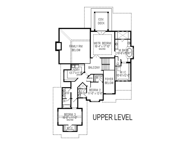 Craftsman Floor Plan - Upper Floor Plan Plan #920-106