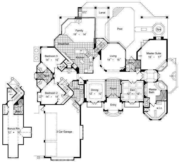 European Floor Plan - Main Floor Plan Plan #417-420