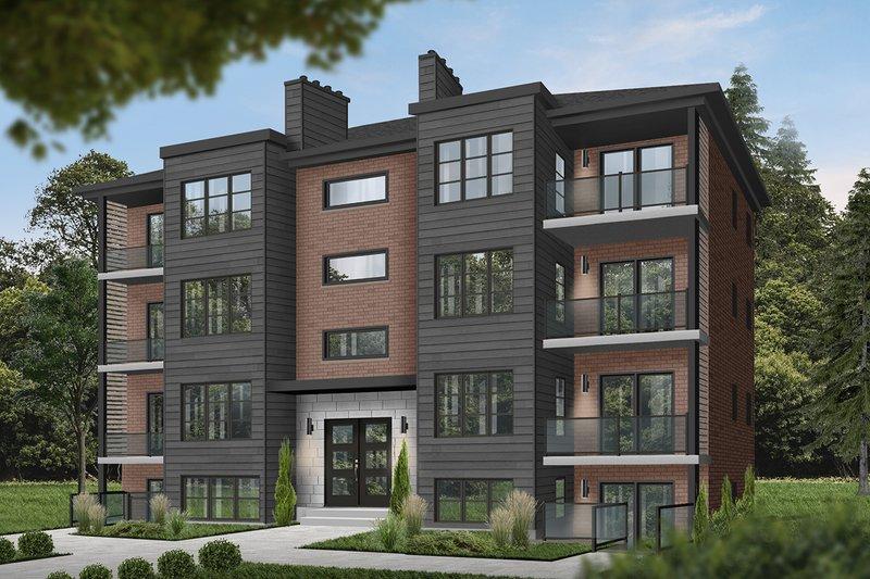 Architectural House Design - European Exterior - Front Elevation Plan #23-2050