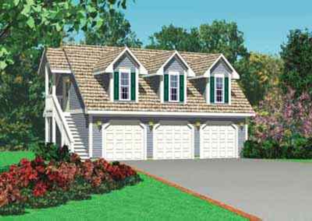 Traditional Exterior Front Elevation Plan 72 252