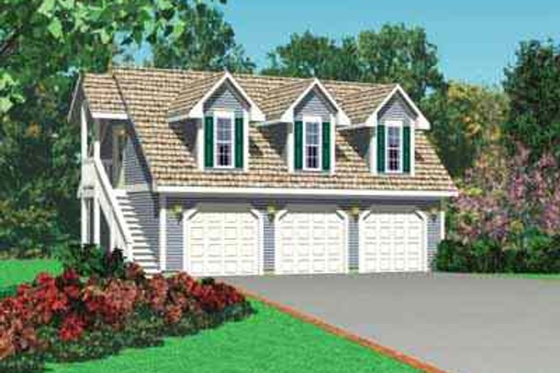 House Blueprint - Traditional Exterior - Front Elevation Plan #72-252