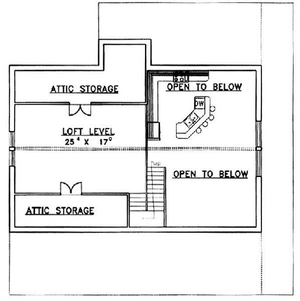 Country Floor Plan - Upper Floor Plan Plan #117-275
