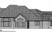 European Style House Plan - 3 Beds 2 Baths 3174 Sq/Ft Plan #70-494 Exterior - Rear Elevation