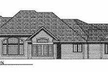 Dream House Plan - European Exterior - Rear Elevation Plan #70-494