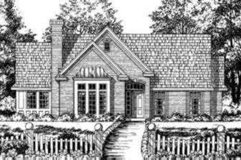 Southern Exterior - Front Elevation Plan #40-278