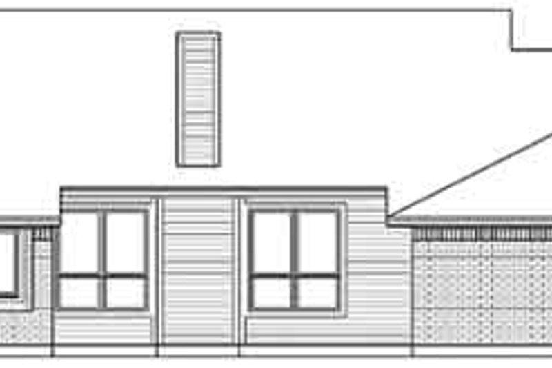 Traditional Exterior - Rear Elevation Plan #84-224 - Houseplans.com