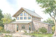 Contemporary Style House Plan - 2 Beds 2.5 Baths 2115 Sq/Ft Plan #140-161 Exterior - Front Elevation