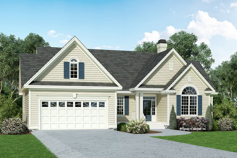 Dream House Plan - Traditional Exterior - Front Elevation Plan #929-880