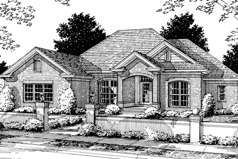 Architectural House Design - Traditional Exterior - Front Elevation Plan #20-345