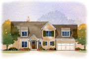Traditional Style House Plan - 3 Beds 2.5 Baths 1984 Sq/Ft Plan #901-69 Exterior - Front Elevation