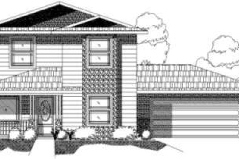Traditional Style House Plan - 4 Beds 3 Baths 1952 Sq/Ft Plan #24-197 Exterior - Front Elevation